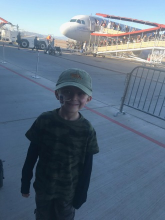 Finally boarding our flight!