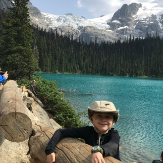 Nico resting after the strenuous hike to the middle lake.