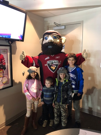Giants mascot came by to say hello!